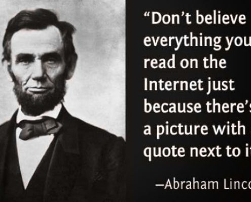 abraham lincoln fake news qoute