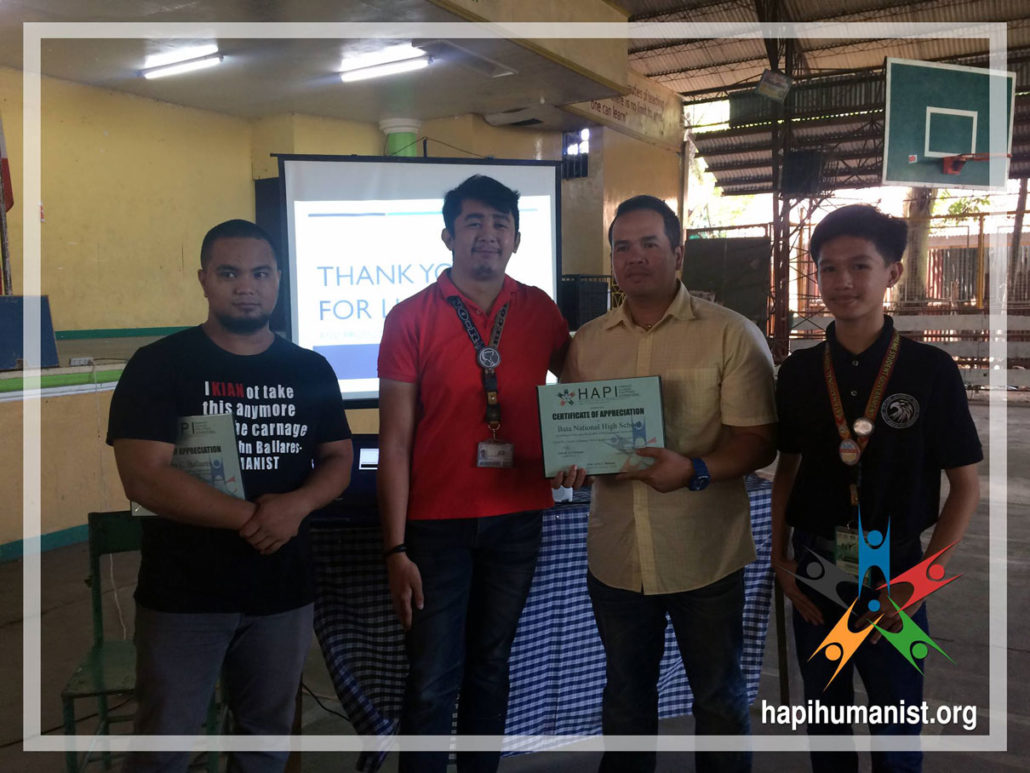 HAPI receives certificate of appreciation for the HIV / AIDS awareness lecture