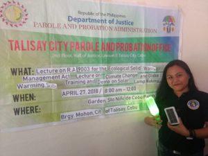 HAPI Green Movement and Eco-Tabang hold solar lamp workshop