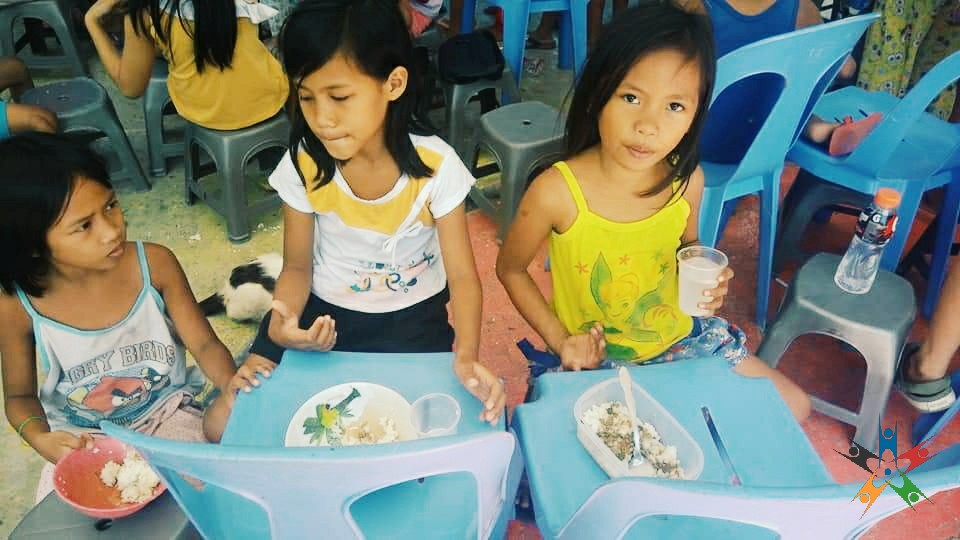 HAPI Kids enjoying their 'Nutritious Meal of the Day'