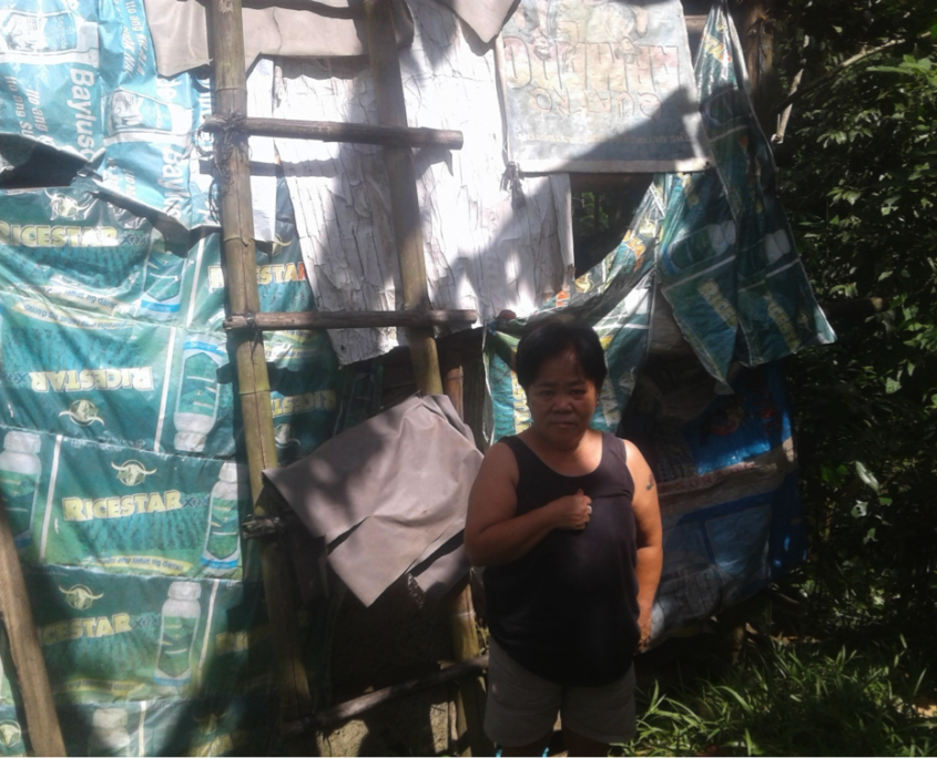 EEGCI and HAPI Homes replace shanty of needy laundress