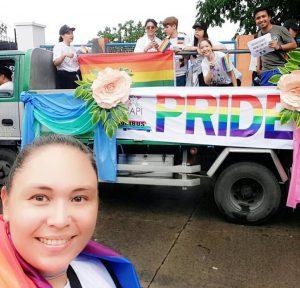 Driskell at the Marikina City Pride March
